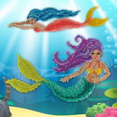 Make these two enchanting mermaids, Serena and Merissa, to bring a little deep sea magic to any room.
