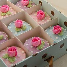 Cakeadoodledo - cupcake heaven from Devon Hands down, best cupcakes I've ever eaten. Pretty Cupcakes, Beautiful Cupcakes, Easter Cupcakes, Cupcake Cookies, Cupcake Gift, Elegant Cupcakes, Spring Cupcakes, Rose Cupcake, Marzipan Rose