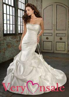 mermaid wedding dress lace,Taffeta Ruffles Mermaid Lace-up Wedding Dress Corset Wedding Gowns, Pleated Wedding Dresses, Wedding Dress 2013, Wedding Dress Necklines, Wedding Dress Train, Bridal Dresses, Mermaid Dresses, Mermaid Wedding, Ruffles