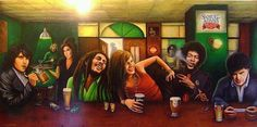 Jim Morrison, Kurt Cobain, Amy Winehouse, Bob Marley, Janis Joplin, John Lennon,Jimi Hendrix, Bob Dylan.