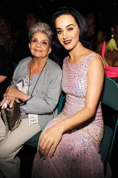 Katy Perry and her Grandmother  Katy Perry and her 91-year-old grandmother attend the 2012 Billboard Music Awards at the MGM Grand Garden Arena.  Photo by: WireImage