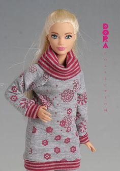 Barbie clothes for curvy barbie 2piece leisure by DoraCollection