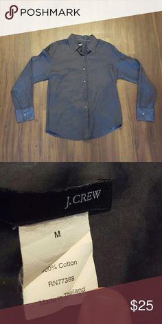 J.Crew Navy Blue Button-down Shirt Very good condition, very soft, 100% cotton J. Crew Tops Button Down Shirts