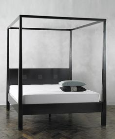 four poster bed simple lines