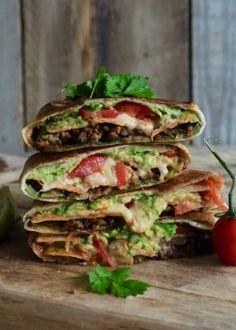 Mexican Food Recipes, Healthy Recipes, Ethnic Recipes, Crunch Wrap, Greens Recipe, Snacks, Tex Mex, Main Meals, I Foods