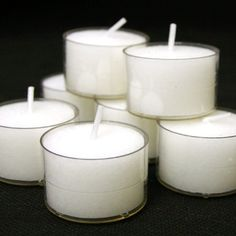 Pack of 50 9 Hour Tealight Candles Clear Acryic Cups | Wedding Tea Lights