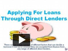 Applying For Loans Through Direct Lenders - PowerPoint PPT Presentation