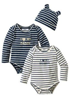 Rompertje+muts (3-dlg. set), bpc bonprix collection, ecru/donkerblauw