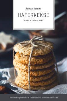 Schwedische Haferkekse - so einfach, so gut #Rezept #Havreflarn #Haferkekse #backen #Plätzchen #Kekse #Gebäck