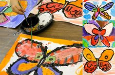 How to draw a butterfly.Symmetry lesson