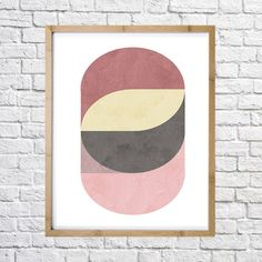 Poster of abstract geometric circles  digital print instant