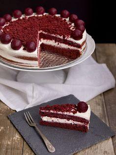 Red Velvet Cake s ubraným cukrem Velvet Cake, Red Velvet, Thing 1, Tiramisu, Ethnic Recipes, Cakes, Food, Deserts, Cake Makers