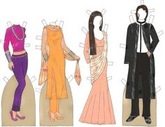 Indian Couple I Paper Doll - Katerine Coss - Picasa Webalbum* Google 1500 free paper dolls at The International Society of Paper Dolls by artist Arielle Gabriel for paper doll pals at Pinterest *