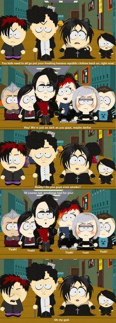 Goth kids versus vampire kids