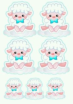 Ovejita con Lazo Celeste: Etiquetas, Toppers o Stickers para Primera Comunión para Imprimir Gratis. Eid Party, Baby Party, Diy And Crafts, Crafts For Kids, Bare Bears, Scrapbook Stickers, Easter Crafts, Cute Pictures, Hello Kitty