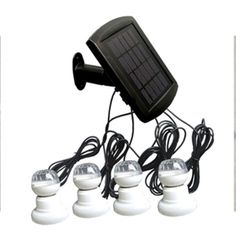 UPE-SLS02 Solar Lighting System Product Description: • Complete kit includes everything you need to hook up solar and lighting. • Great for power usage in remote area and outdoor activities. FEATURES Kit includes: solar panel, LED lamps, ground stake, mounting bracket Solar panel:1.5W               Battery: li-ion,1500mAh Lamp:0.2W LED * 4pcs    Working time: 6hrs