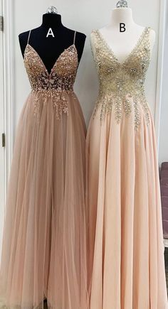V Neck Champagne Long Party Dress from modseleystore Elegant V Neck Champagne Long Formal Dresses. Which one do you prefer?Elegant V Neck Champagne Long Formal Dresses. Which one do you prefer? Dresses Elegant, Women's Dresses, Dance Dresses, Long Dresses, Dresses Online, Blush Pink Prom Dresses, Fall Dresses, Wedding Dresses, Summer Dresses