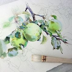 🎨 Watercolorist: @ola_mos    #waterblog #акварель #aquarelle #drawing #art #artist #artwork #painting #illustration #watercolor #aquarela