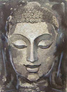 Buddha Drawing, Buddha Painting, Buddhism Zen, Buddha Face, Watercolor Cards, Folklore, Line Art, Stepping Stones, Religion