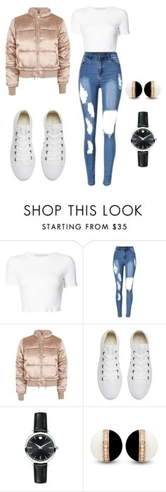 """""""Untitled #1620"""" by nadia-n-pow ❤ liked on Polyvore featuring Rosetta Getty, Topshop, Converse and Movado"""