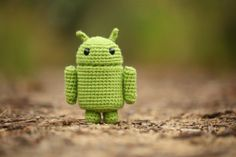 cute android crochet craft