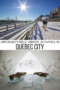 10 unforgettable winter activities to enjoy in Quebec City, Canada.