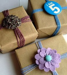 Embalagem craft para o Natal