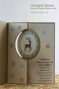 Stempel-Biene: Weihnachtskarte mit der neuen Thinlitsform Pop-Up Karte