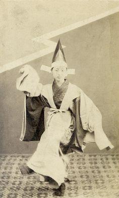 "From ""Portraits of Japanese Kabuki actors and geisha"" album, 1870s"