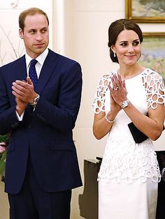 The Duke and Duchess of Cambridge at the home of Australia's governor-general, Sir Peter Cosgrove