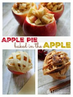 This apple pie baked in the apple is so simple to make and makes the perfect…