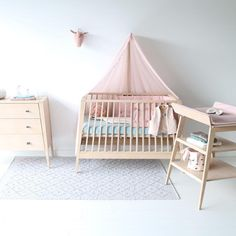 Thereu0027s A New Cot On The Block! Check Out The New Linea Range By Leander  Including Cot, Dresser U0026 Changer _ #lineabyleander #linea #leander  #nurseryinspo ...