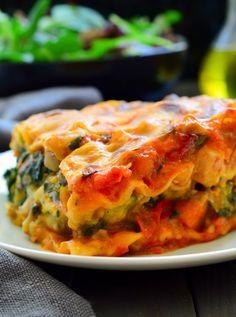 This vegan lasagna is packed with veggies, flavourful and creamy without a shred of fake vegan cheese or tofu! This vegan lasagna is packed with veggies, flavourful and creamy without a shred of fake vegan cheese or tofu! Best Vegan Lasagna Recipe, Vegetarian Recipes, Vegetarian Cooking, Lasagna Recipes, Vegan Foods, Vegan Dishes, Vegan Keto, Whole Food Recipes, Healthy Recipes