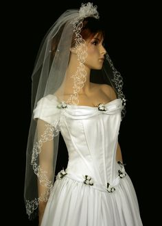 Bridal Veil with Embroidery  Lynley Wedding Veil by TheBridesStore, $39.90