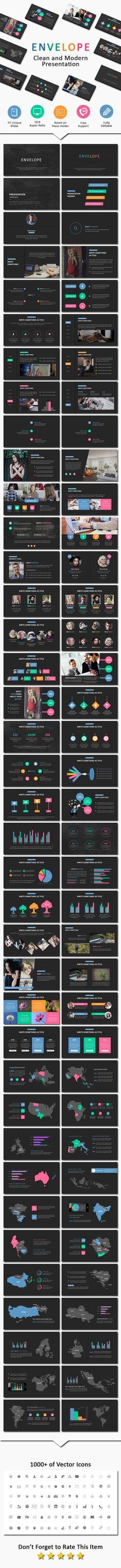 Dark Envelope - Business PowerPoint Templates
