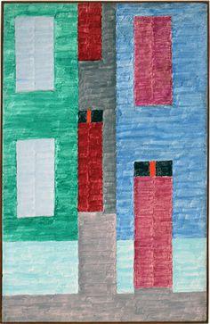 Facade(1970) - Oil on Canvas - Alfredo Volpi.