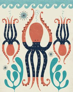 Octopus Art Print - Tracy Walker