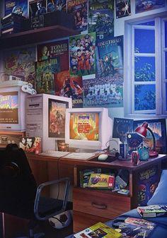 game game art A nostalgia dos anos 90 em 18 Retro Room, Vintage Room, Retro Art, Vintage Art, Retro Arcade, Retro Video Games, Video Game Art, Retro Games, Star Fox