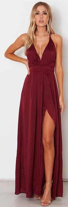 2018 A-line Spaghetti Straps Prom Dresses Custom Burgundy Long Prom Dresses Evening Dress – Ellise M. 2018 A-line Spaghetti Straps Prom Dresses Custom Burgundy Long Prom Dresses Evening Dress – Evening Dress Long, Burgundy Evening Dress, Evening Dresses, Burgundy Dress, Burgundy Prom Dresses Long, Simple Evening Gown, Dark Red Dresses, Red Burgundy, Evening Outfits