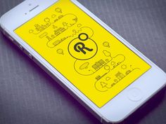 Splash screen animation by Cuberto http://www.fromupnorth.com/user-interface-inspiration-1097/#