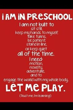 Make sure your child's or student's free time isn't too programmed and regimented. Open-ended play is critical! #play #childdevelopment