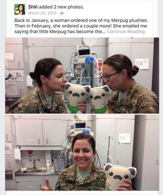 A customer emailed me saying that little Merpug has become the mascot of their trauma bay in Afghanistan!