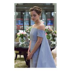 Tonight was a special screening of @beautyandthebeast in London. The film was shown at the Odeon Leicester Square cinema to 1,600 people after a reception at the stunning Spencer House  Bespoke @emiliawickstead structural, off-the-shoulder gown with inverted pleat train. The gown is made from end-of-line fabric sourced from a family-run, London business specialising in couture fabrics, and produced in Italy. These unwanted fabric pieces have been given a new lease of life; often irregular...