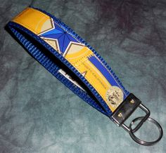 Wristlet KeyChain from Recycled North Coast Blue Star Wheat beer labels by squigglechick, $12.00