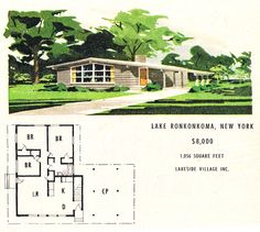 Small house plans mid century modern