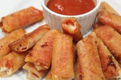 These wonton pepperoni rolls remind me of a mozzarella sticks because they're crispy and cheesy. They're the perfect bite size appetizer.