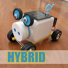 New Mini White Pig Battery Solar Power Hybrid DIY Car >>> Check this awesome product by going to the link at the image.