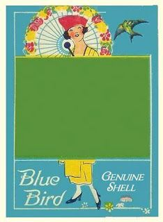 Blue Bird Button Card, ca. late 1910s