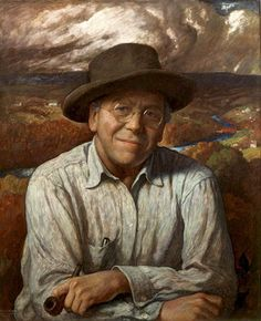 (Newell Convers) Wyeth [American Golden Age Illustrator, - Self Portrait. Patriarch of three generations of Wyeth-Hurd artists, including son Andrew Wyeth and grandson Jamie Wyeth Oil on canvas Brandywine River Museum. Jamie Wyeth, Andrew Wyeth, Jackson Pollock, Renoir, Famous Artists, Great Artists, Nc Wyeth, Frederic Remington, Illustrator
