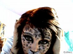 Nikki i hope you see these and love them all. xD Talk with me? Cat Makeup, End Of The World, Whisper, Giraffe, Cats, Animals, Hush Hush, Felt Giraffe, Gatos